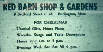 Red Barn Shop & Gardens, Burlington MA