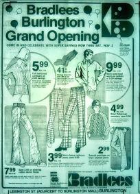 Bradlees grand opening Burlington MA