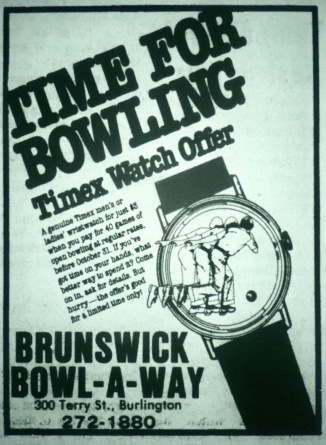 Brunswick Bowl-A-Way lanes, Burlington MA