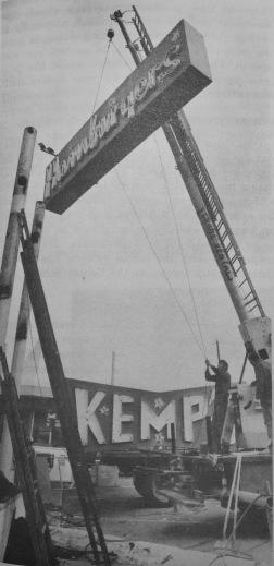 Kemp's Hamburgers sign coming down