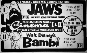 Jaws/Bambi double-bill, Burlington MA