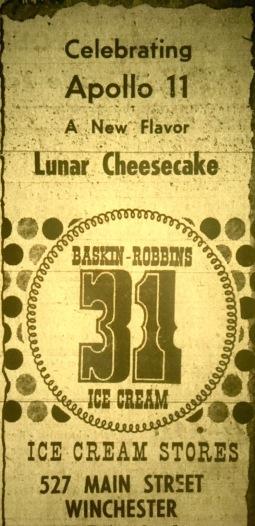 Lunar Cheesecake ad, Winchester
