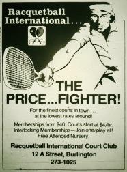 Racquetball International, Burlington MA
