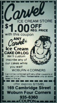 Carvel Ice Cream, Woburn MA