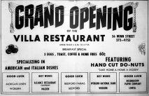 Villa Restaurant, Burlington MA