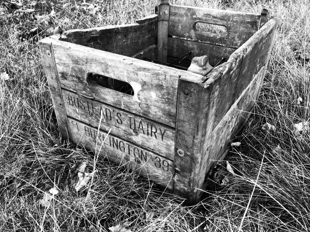 Bustead's milk crate