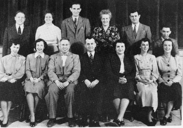 1949 Burlington High School faculty/administration