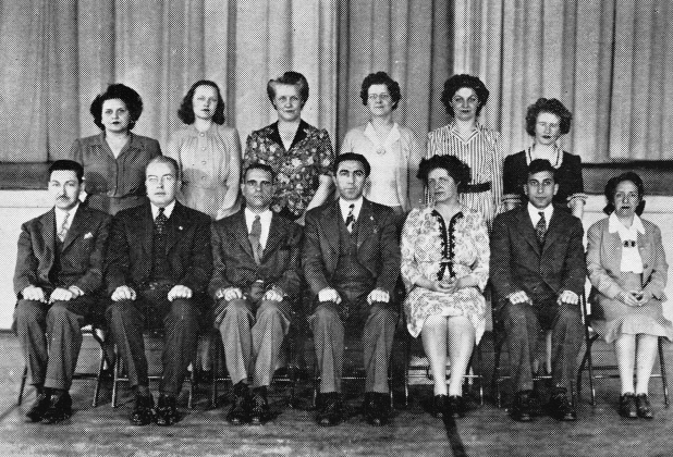 1945 Burlington High School faculty/administration