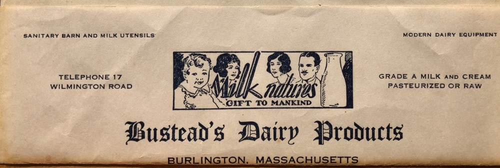 Bustead's Dairy Products letterhead