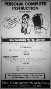 The Computer Workshop, Burlington MA