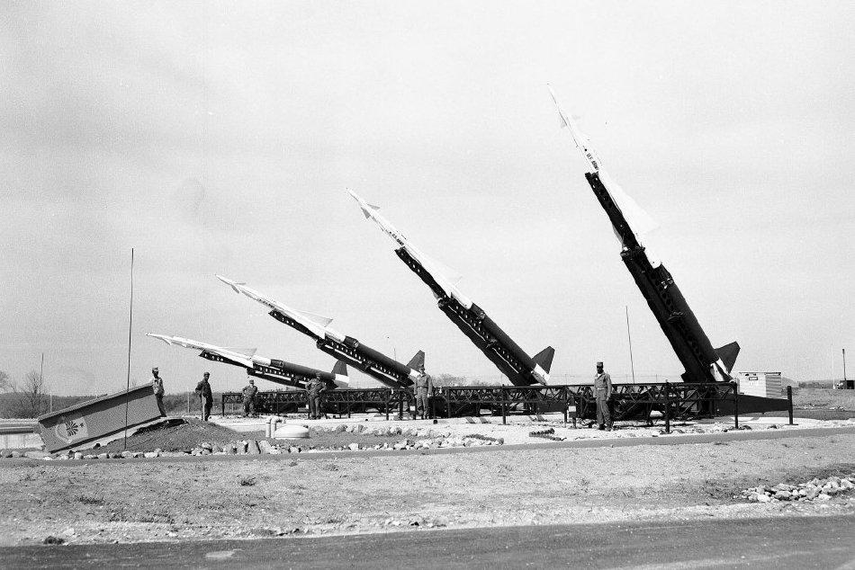 Nike Ajax missiles at Burlington location