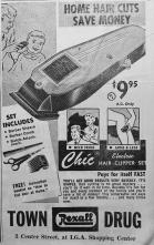 Rexall hair clipper ad.