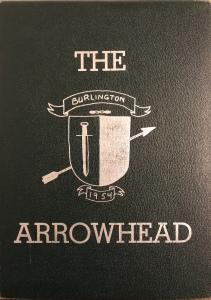 Burlington High School yearbook cover 1954