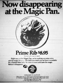 Magic Pan, Burlington Mall