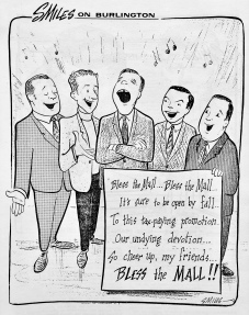 Bless the Mall cartoon, by Steve Miles